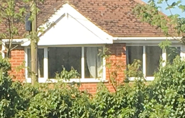 The 'mystery' house's windows where the curtains never close