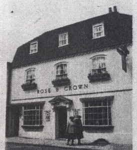 An early photo of the Rose and Crown where we later had our shop. The bedroom window is at the top on the left.